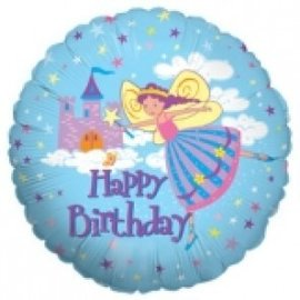Foil Balloon - Happy Birthday Fairy/18""