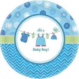 Beverage Paper Plates- It's a Boy- 8pk-7""