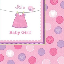 Luncheon Napkins- It's a Girl- 16pk-2ply