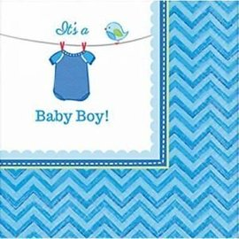 Beverage Napkins- It's a Boy- 16pk-2ply