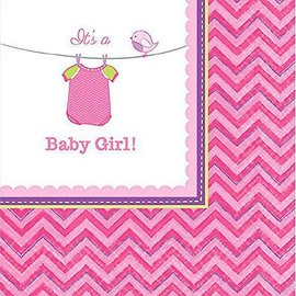 Beverage Napkins- It's a Girl- 16pk-2ply