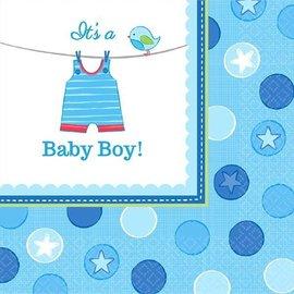 Luncheon Napkins-It's a Boy Cloth-16pk-2ply