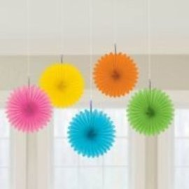 Tissue Fans - Tropical Assortment- 5pcs/6""