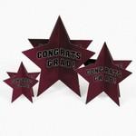 Centerpiece Set-Burgundy Congrats Graduation Star-3pk (Seasonal)