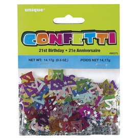 Confetti-21st birthday