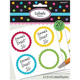 Labels-Scalloped-Rainbow-20pk/2''