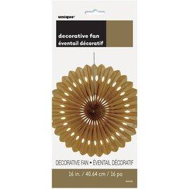 Decor Fan Paper-Gold- 1pc/16''