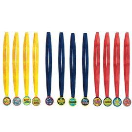 Award Medals Assorted-12pk