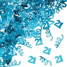 Confetti-Turquoise Age 21 Swirls