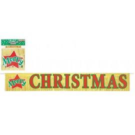 Banner-Merry Christmas- Foil-1.4m