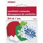 Christmas Confetti cutouts