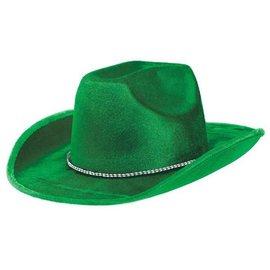Cow Boy Hat-Green Fedora-Fabric