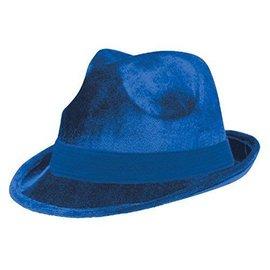 Cow Boy Hat-Blue Fedora-Fabric