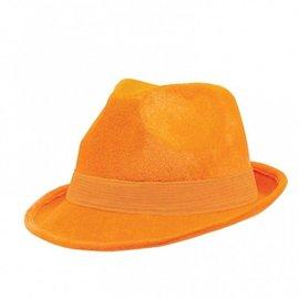 Fedora Hat-Orange-Fabric