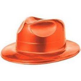 Fedora Hat-Orange-Plastic