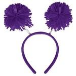 Head Bopper-Pom Pom Purple