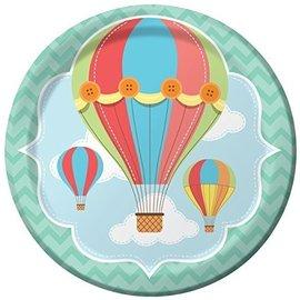 Plates-LN-Up, Up & Away-8pk-Paper- Final Sale