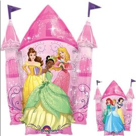 Foil Balloon-Supershape-Double Sided Disney Princess Castle