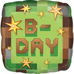 Foil Balloon - Mine Craft Birthday - 18''