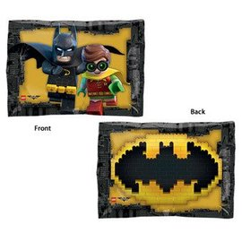 Foil Balloon-Lego Batman and Robin-2 sides-16'' x 12''