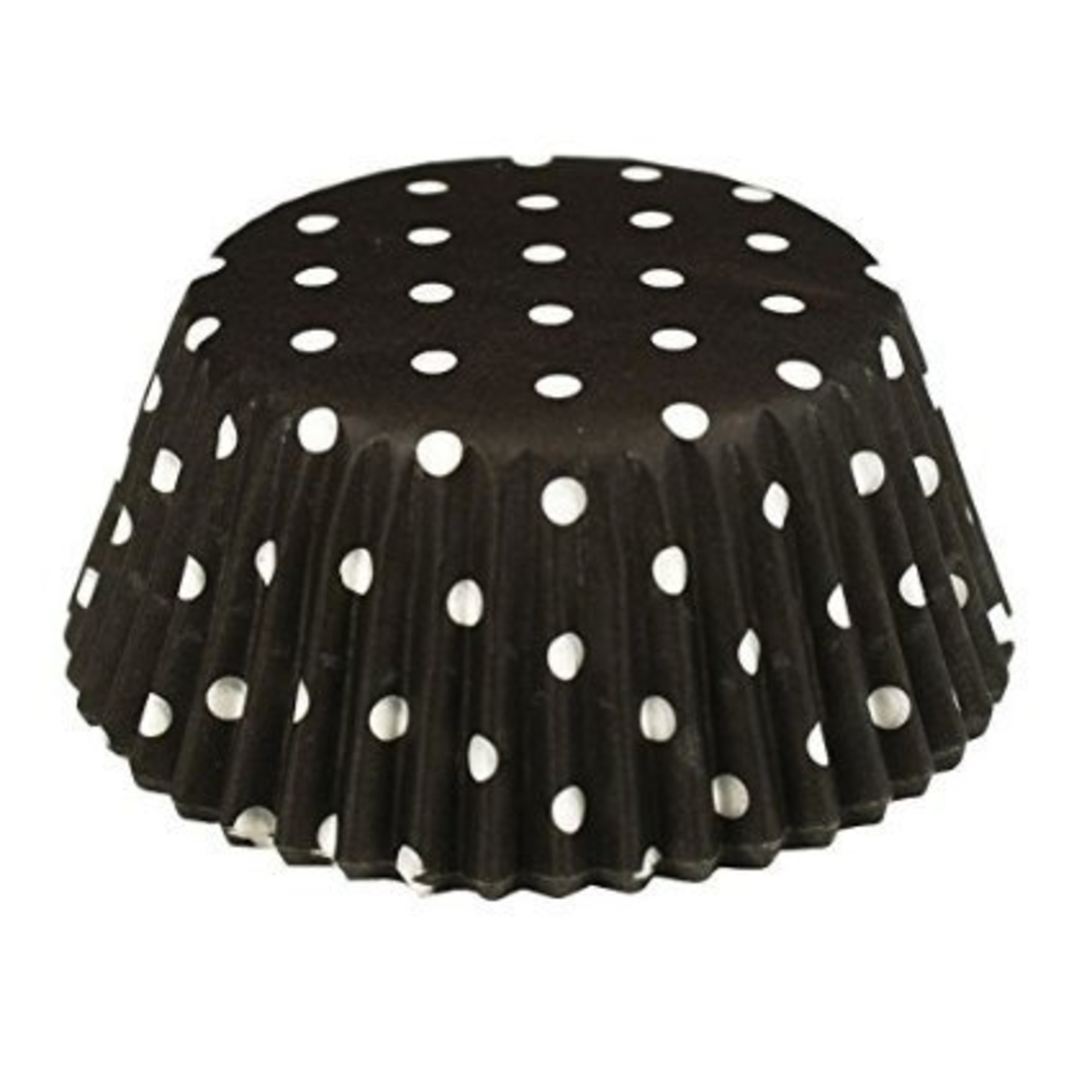 Baking Cups-Black Polka Dots-2''-75pk