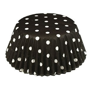 Baking Cups-Black Polka Dots-2''-75pk