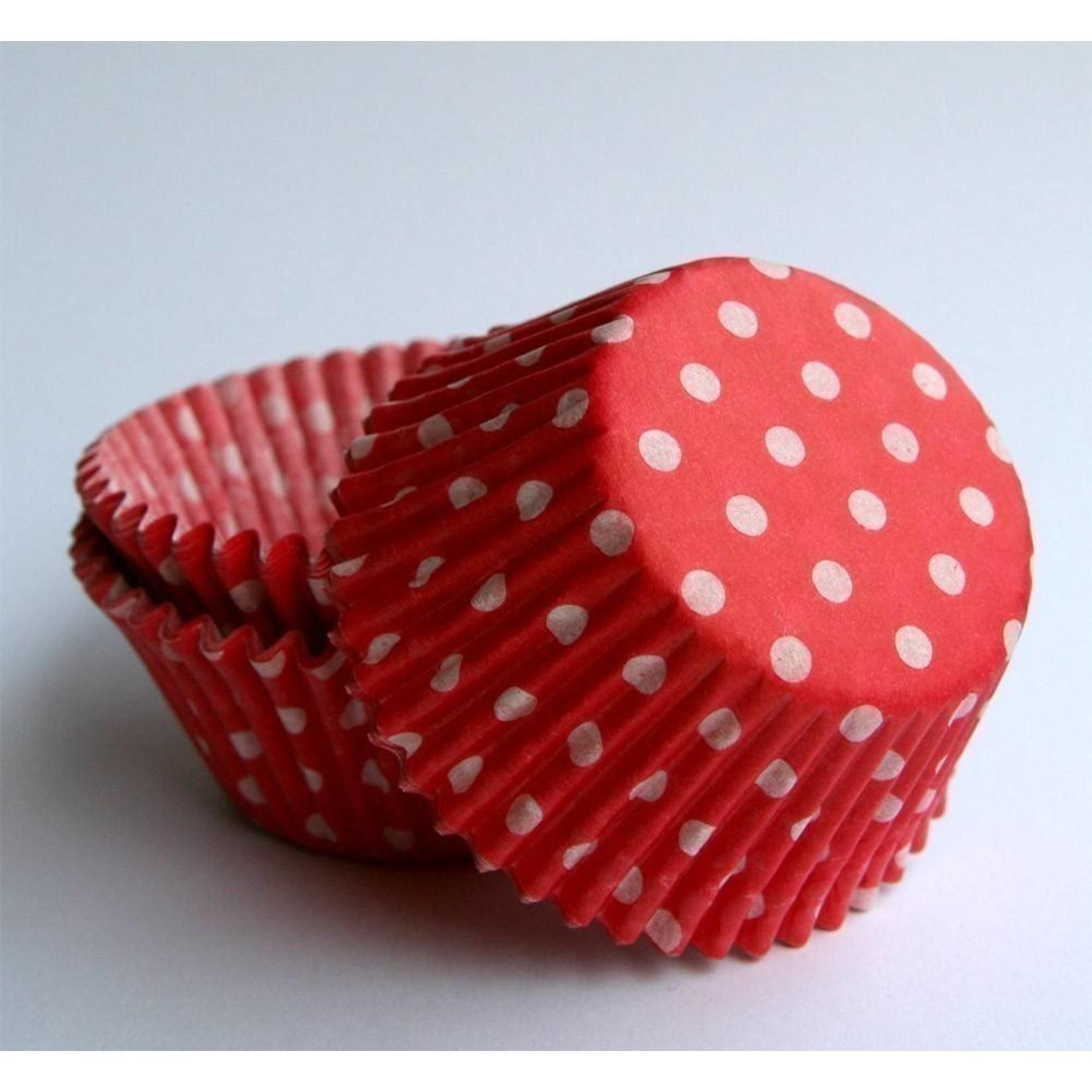 Baking Cups-Red Polka Dots-2''-75pk