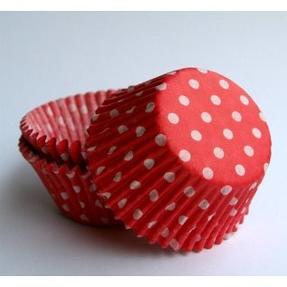 Baking Cups-Red Polka Dots-2''-75pk