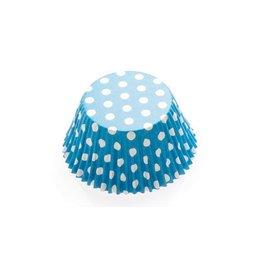 Baking Cups-Carribean Blue Polka Dots-2''-75pk