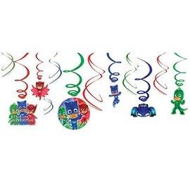Swirl Decorations-PJ Masks-12pk
