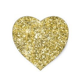 Stickers-Gold Glitter Heart-25pk