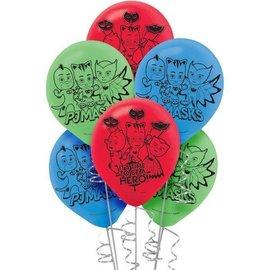 Packaged Latex Balloons-PJ Masks-12''-6pk
