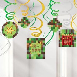 Swirl Decorations-TNT Party-12pk