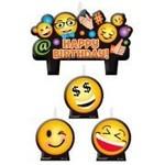Candle Set-Emoji-4pk
