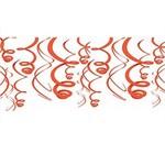 "Swirl Decorations 12pc Orange 22"""