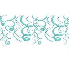 Swirl Decorations - Robin's Egg Blue 22'' 12pcs