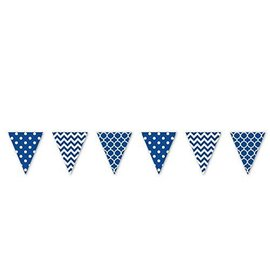 Pennant Banner- Royal Blue and White