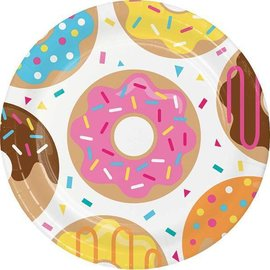 Luncheon Paper Plates- Donut Time- 8pk-9""