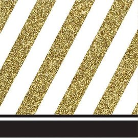 Napkins-BEV-Black and Gold-16pk-3ply - Discontinued