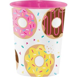 Plastic Cup-Donut Time-16oz