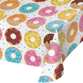 Tablecover - Plastic - Rectangle - Donut Time - 54''x102'' - 1pc