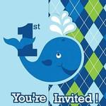 Invitations-Ocean Preppy Boy 1st Birthday-8pk
