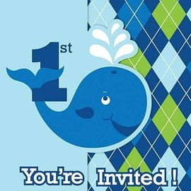 Invitations-Ocean Preppy Boy 1st Birthday-8pk