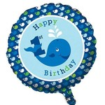 Foil Balloon-Ocean Preppy 1st Birthday-18''