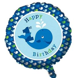 Foil Balloon-Ocean Preppy 1st Birthday-18''