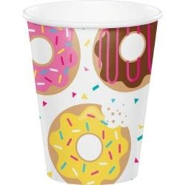 Paper Cups-Donut Time-9oz-8pk