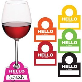 Drink Tags-Hello My Name is - 12pk