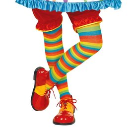 Clown Striped Tights-1 PR