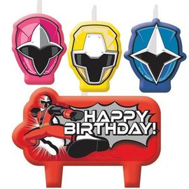 Candle Set-Power Rangers Ninja Steel-4pk