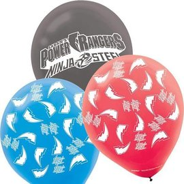 Balloons-Power Rangers Ninja Steel-12in-6pk